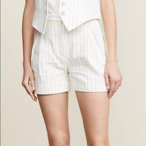 ☀️Banana Republic Linen Shorts Cuffed High Waist
